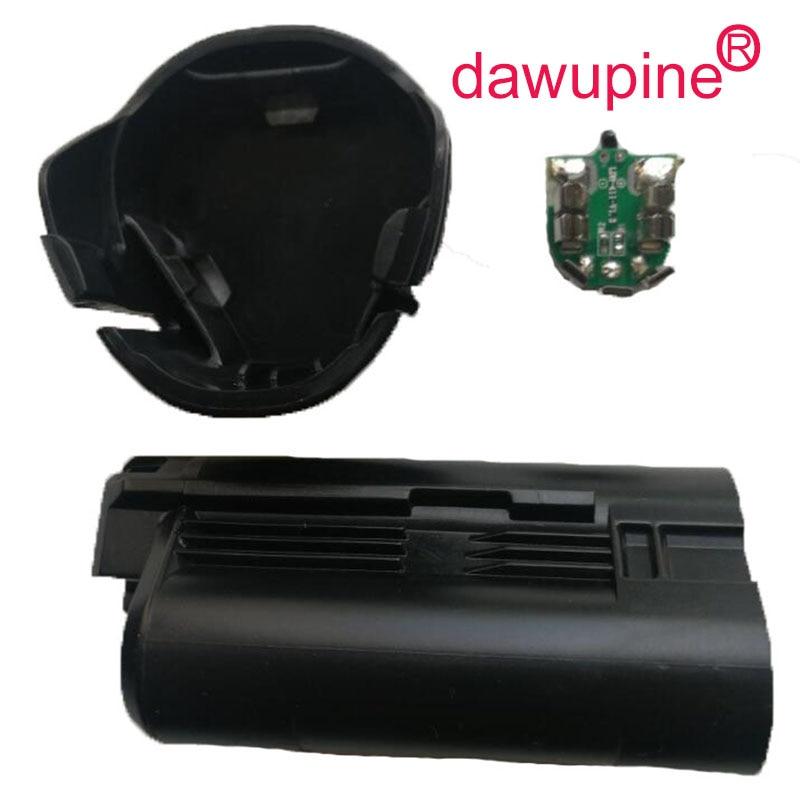 Dawupine BAT411 Batterie Kunststoffgehäuse (keine batterie zelle) PCB Leiterplatten Für Bosch 10,8 V 12 V BAT411 Li-Ion Akku Shell Box