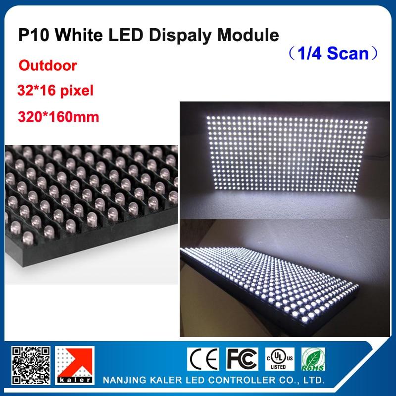 TEEHO P10 Outdoor Waterproof Led Display Module 32x16cm Led Module Light High Brightness White P10 Sign Led Display Panel