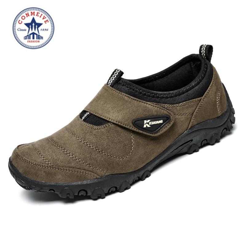 Prix pour 2016 Zapatillas Deportivas Hombre Marque Toile En Plein Air Trekking Chaussures Véritable Bottes Hommes Montagne Escalade Randonnée Freeshipping