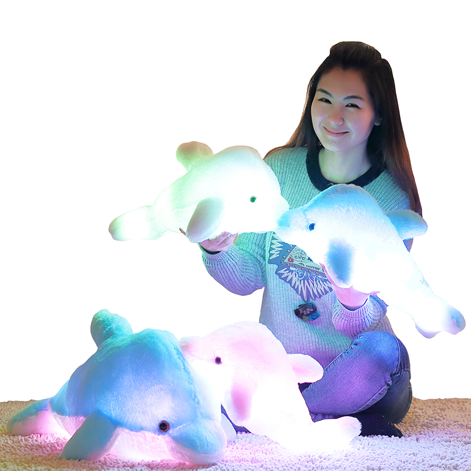 45 cm luminoso muñeco de peluche de delfín que brilla intensamente - Peluches y felpa - foto 2