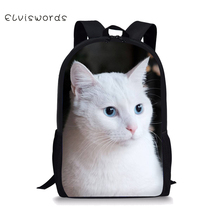 Backpack Female Cute Cat Printing 16 Inch Polyester for Kids Girls Boys Student School Bag Children new