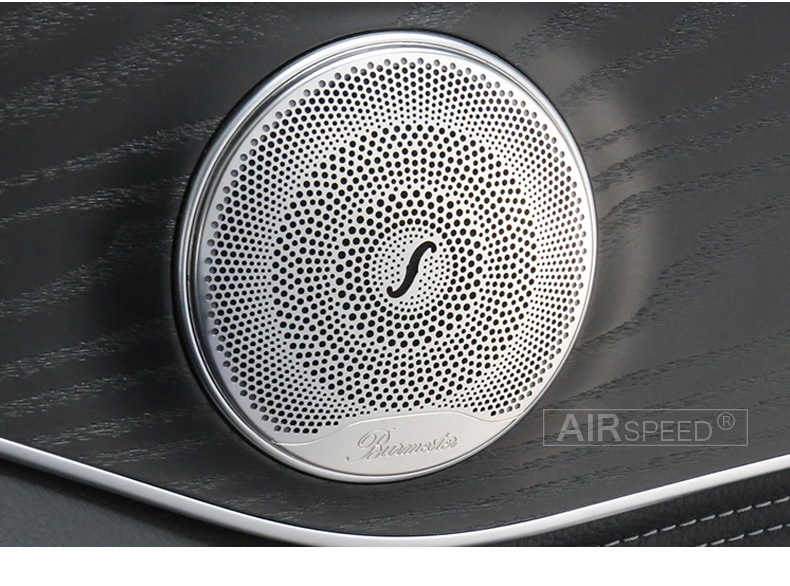 Airspeed for Mercedes Benz W205 W213 GlC AMG Accessories for Mercedes GLC Benz W205 W213 Interior Trim Door Audio Speaker Cover (6)