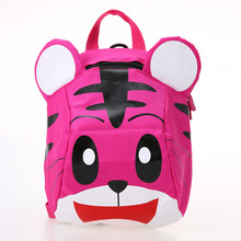 Kids Animal Print Backpack with Safety Harness Cute Tiger Shaped Anti-lost Backpack Plush Toys for Kindergarten Boys Girls(China)