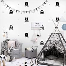 Nordic Cartoon Bear Pure Paper Children Room Wall Home Decor Kids Boys Bedroom Living Wallpapers for Walls