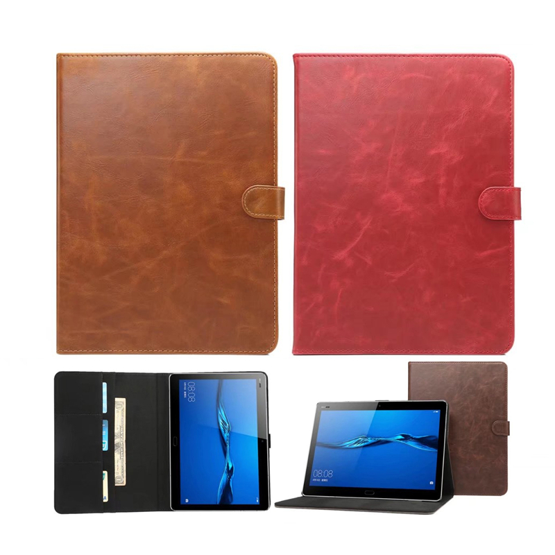 Crazy Horse PU Leather Stand Cover For Huawei MediaPad M3 8.4 Inch Tablet Protective Shell Case for Huawei M3 BTV-W09 BTV-DL09 luxury flip stand case for samsung galaxy tab 3 10 1 p5200 p5210 p5220 tablet 10 1 inch pu leather protective cover for tab3