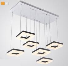54 w LED Contemporáneo Lámpara Colgante cuadrado, diseño italiano lámpara de suspensión de luz led, moderna lámpara colgante de Iluminación interior del Hogar