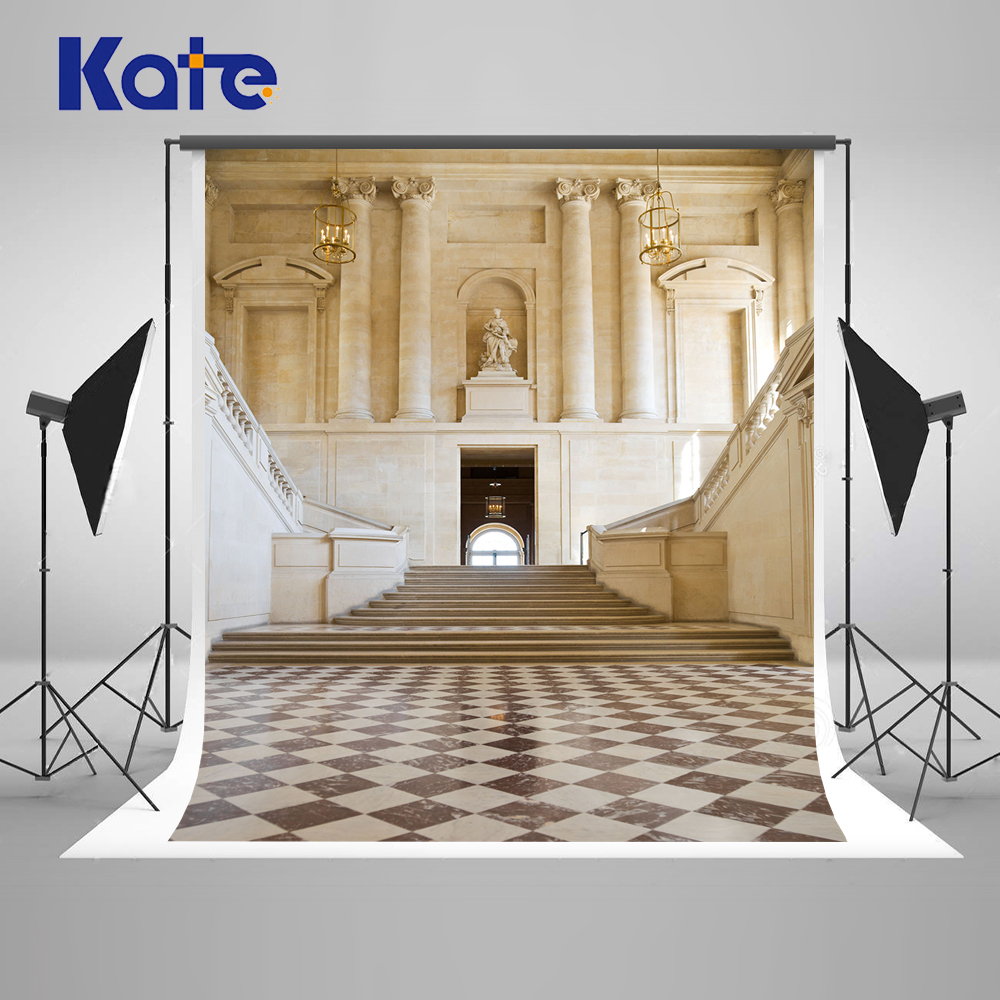Kate White Wedding Church Studio Photography Backdrops Indoor Stairs Photography Background Backdrop Foldable Background