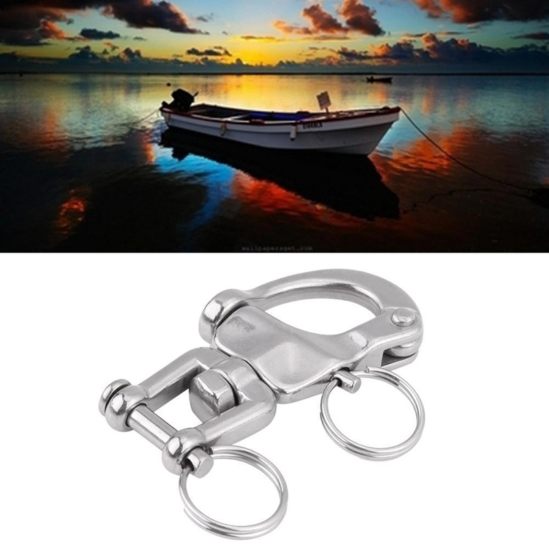 Image 5 - 316 Stainless Steel Jaw Swivels Snap Shackle For Sailboats Halyard 2 3/4inches-in Marine Hardware from Automobiles & Motorcycles
