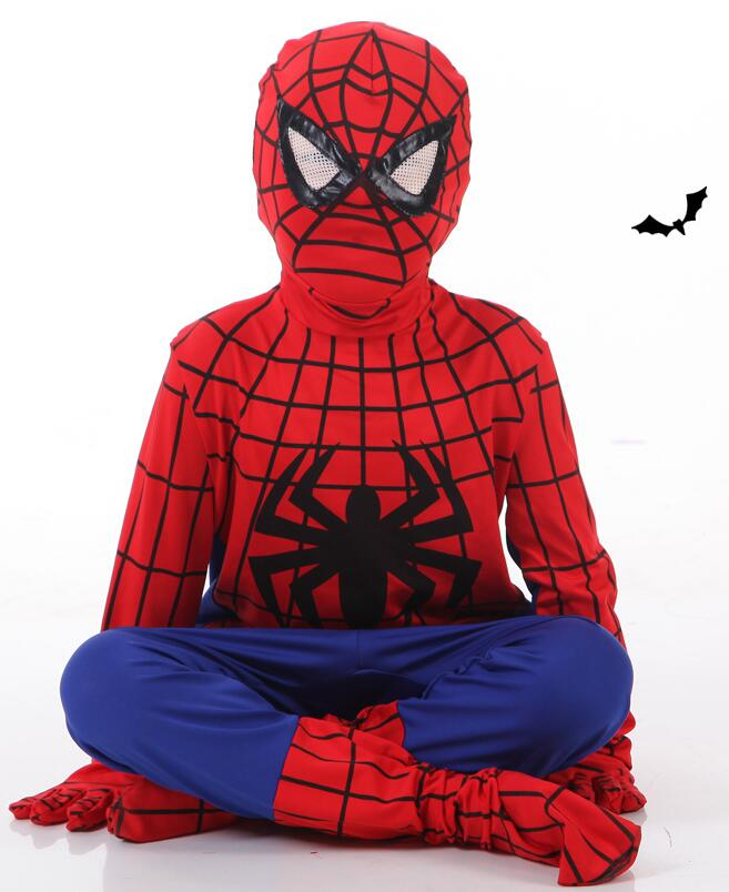 Hot Sale Marvel <font><b>Comic</b></font> <font><b>Spiderman</b></font> <font><b>Child</b></font> <font><b>Costume</b></font> Kid fantasia Halloween fantasy superhero carnival party Fancy Dress CS01754