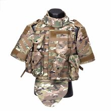 OTV Tactische Vest Camouflage Body Armor Combat Vest Met Pouch/Pad USMC Airsoft Militaire Molle Assault Plate Carrier CS kleding(China)