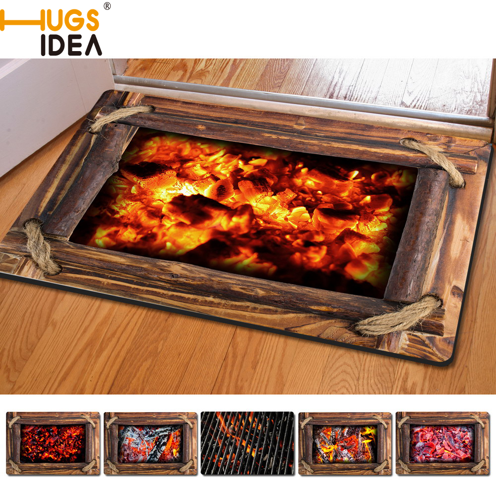 Hugsidea Funny Charcoal Home Floor Carpet Creative 3d