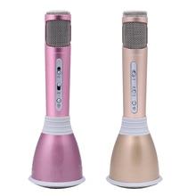 Mini K068 Home Entretenimiento Karaoke Micrófono de Karaoke Micrófono Mic Altavoz Portátil Bluetooth para el Teléfono Del OD # S