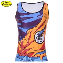 'S linie Walker Sommer Dragon Ball Z Tank Tops Goku Gohan Cartoon Weste Yamchu Vegeta Jersey 3D Tops Kleidung trainingsanzug Plus