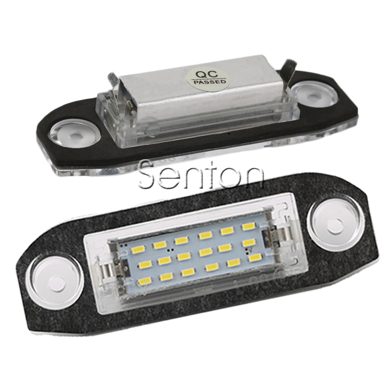 1Pair Car LED number License Plate Light 12V White SMD LED canbus lamp Car Styling For Volvo S80 XC90 S40 V60 XC60 S60 V70 C70 2 pair super white 6000k canbus error free smd chip car led license plate light auto lamp number for ford mondeo mk ii 96 00