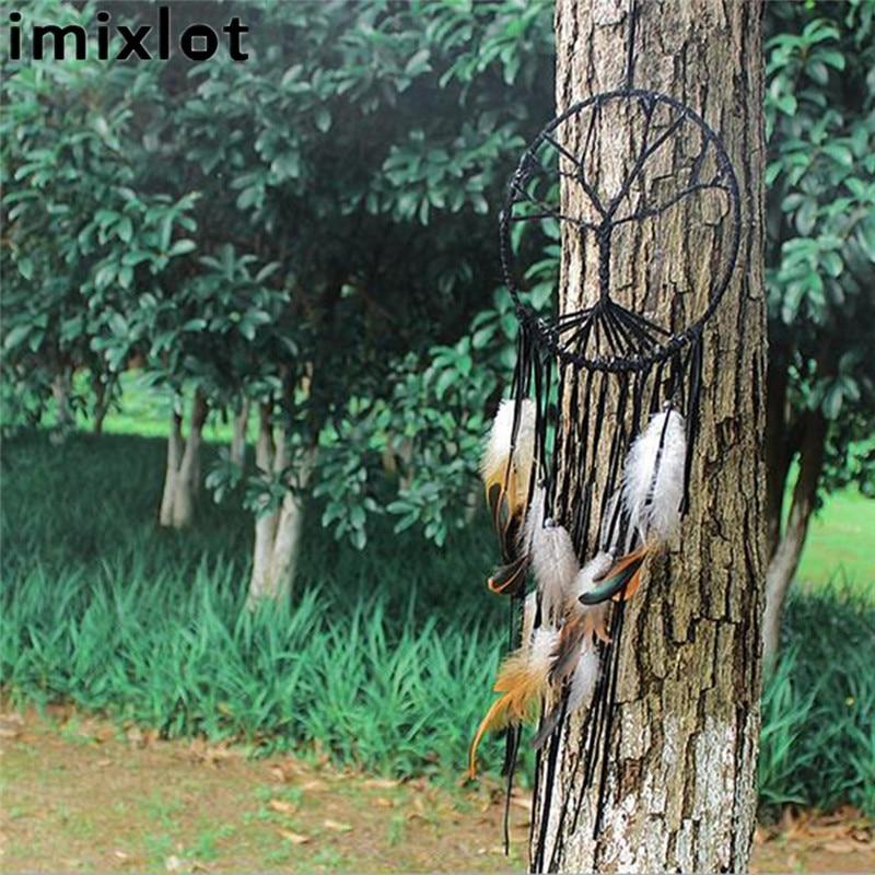 Imixlot Moda Hindistan Retro Hayat Ağacı Tüy Dream Catcher Rüzgar - Ev Dekoru - Fotoğraf 3