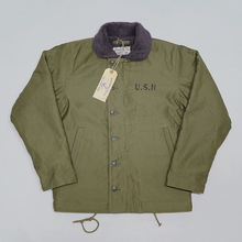 BOB DONG Repro 40s US Navy N 1 Deck Jacke Zurück Farbe Winter Military Uniform USN Mantel der Männer 44