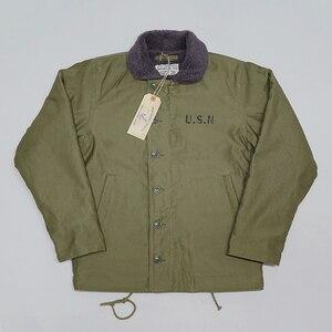 Image 1 - BOB DONG Repro 40s US Navy N 1 Deck Jacke Zurück Farbe Winter Military Uniform USN Mantel der Männer 44
