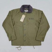BOB DONG Repro 40s US Navy N 1 Deck Jacket Back Paint Winter Military Uniform USN Mens Coat 44