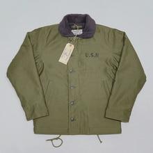 BOB DONG Repro 40s abd donanma N 1 güverte ceket arka boya kış askeri üniforma USN erkek ceket 44