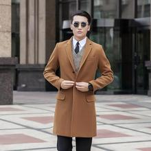 Black grey khaki blue manteau homme wool coat men single-breasted coat men trench coat fashion brand plus size M –  7XL 8XL 9XL