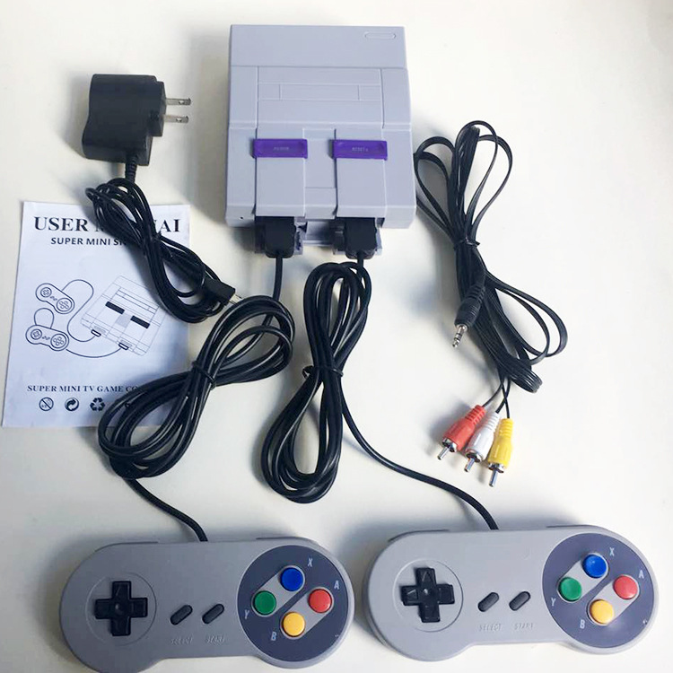 16 Bit Super MINI Classic TV Game Console Built-in 100 Games Console System with 2 Gamepad Retro Video Games Collection