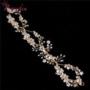 Image 5 - Luxury Crystal Bridal Headpiece Wedding Rhinestone Hair Accessories Bridal tiaras Elegent handmade Headbands RE731