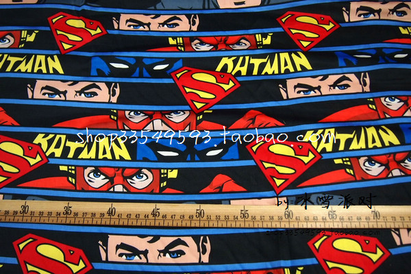 140*50 cm The Avengers superheld Superman logosatin wie baumwolle ...