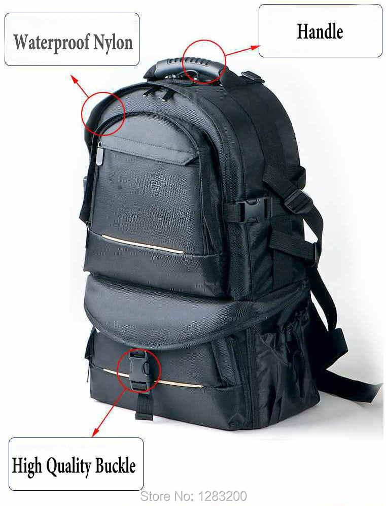 Waterproof BACKPACK DSLR SLR Camera Case Bag For Nikon Canon Sony Fuji Pentax Olympus Leica Outdoor Bag Photograph Bag