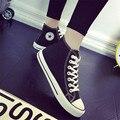 Zapatos de Lona de las mujeres de Las Mujeres Estrella Sneakers Classic High Top niñas antideslizante Zapatos Para Caminar