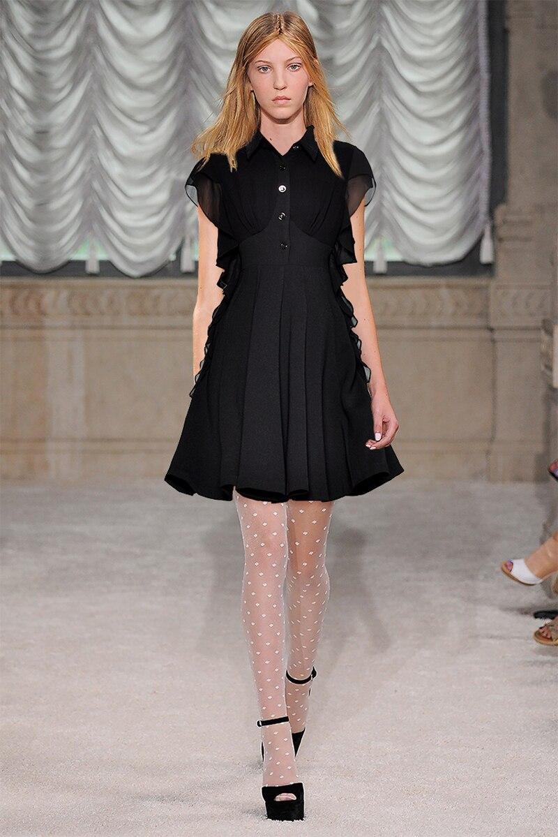 Pailletten Black ausschnitt Mode Kleid Hohe Party Sexy Lange Abend Frauen Kurzen V Flare Kleider Niedrigen Hülse Casual Taille Maxi Z1690 nPwO0k