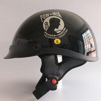 DOT Được Phê Duyệt Mở mặt Xe Máy Helmet Red Blue skull Nửa khuôn mặt Xe Máy kask Cruiser Cổ Điển Harley Mũ Bảo Hiểm M L XL kích thước