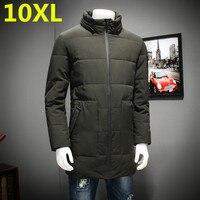 10XL 9XL 8XL 7XL 2018 зимняя куртка Для мужчин свободные толстые теплые Одежда высшего качества ветрозащитная одежда с замком молнией для Для мужчин