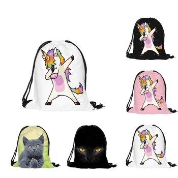 Новинка 2018, милые детские спортивные сумки с рисунком единорога, сумки для плавания, сумка-насос для спортзала, Спортивная школьная сумка на...