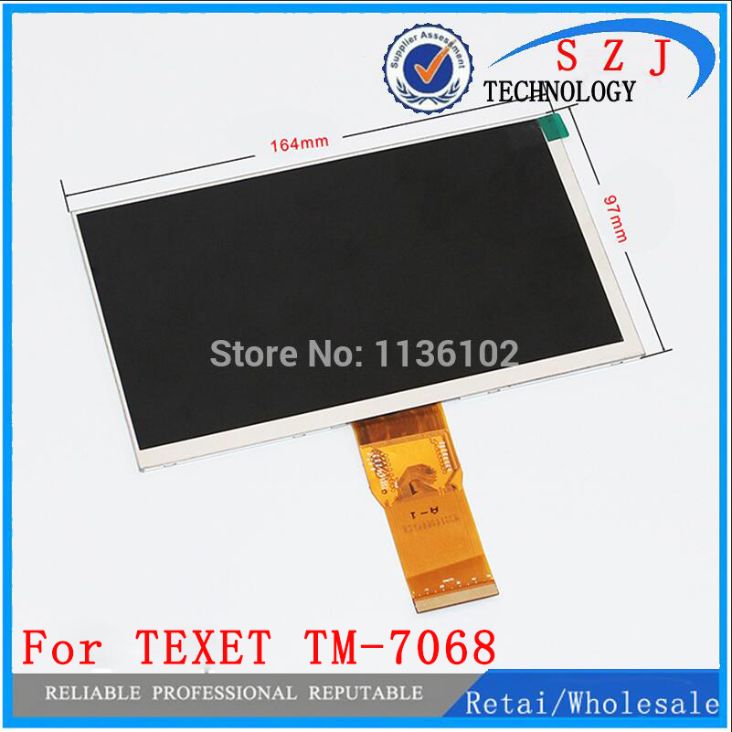 New 7'' inch LCD Display For TEXET TM-7068 X-pad iX 7 3G Tablet inner LCD screen Matrix panel Glass Replacement Free Shipping original new 7 texet tm 7068 x pad ix 7 3g tablet touch screen digitizer touch panel glass sensor replacement freeshipping