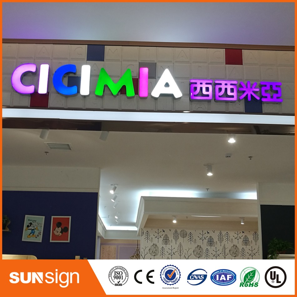 US $0 8 |waterproof advertising outdoor Business signs price epoxy resin  LED channel letters-in Electronic Signs from Electronic Components &  Supplies