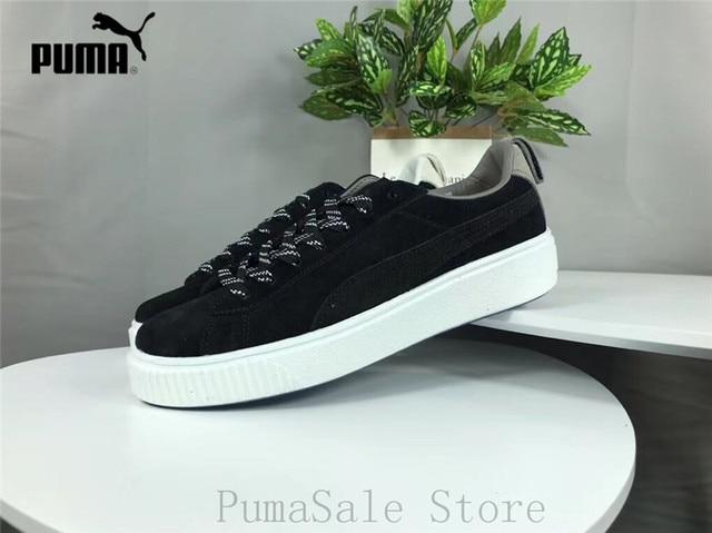 PUMA X LIFUL Suede Sneaker Rihanna Thick-Soled Platform Shoes 365612 Men  And Women Badminton Shoes Size EUR36-44 ef42ab406