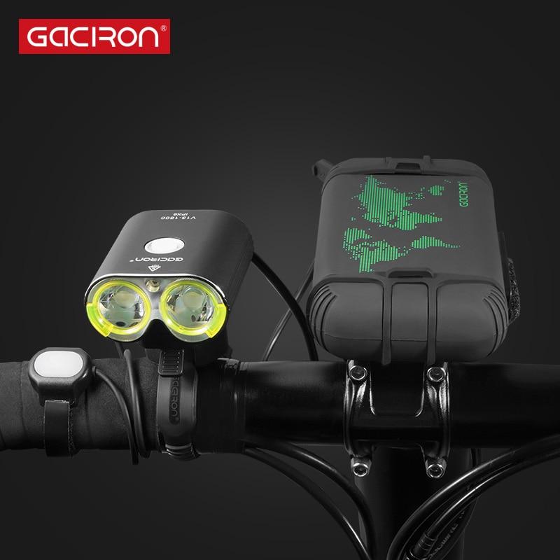 Gaciron V13 Split Type Bicycle Front Light For Race IPX6 Waterproof Bicycle Light 1600 Lumen Bike Accessories
