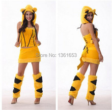 Halloween pikachu dress font b Animal b font role playing Christmas qiaqiu costumes Party font b