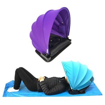 Portable Sunshade Sun protection Personal tent foldable Sun shade Mini beach umbrella parasol with Pillow+ beach mat +Carry Bag 3