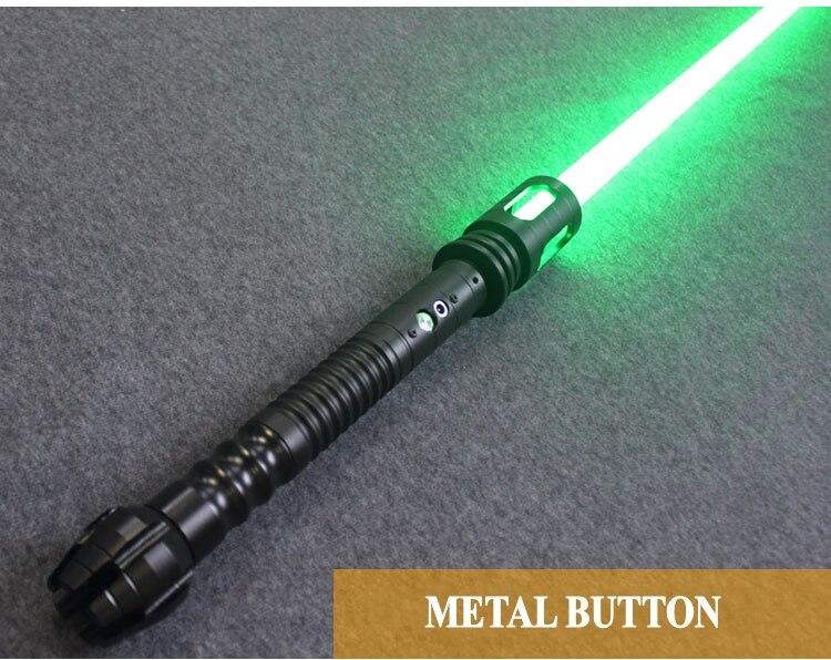 YDD led qualité supérieure Cosplay Sabre laser avec Sound Light led Rouge Vert Bleu Sabre laser Métal Épée Jouets D'anniversaire star wars kid