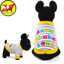 2017 petcircle new pet dog clothes chihuahua pet hoodies spring boom shaka laka dog shirts dog coats size XXS-L free shipping