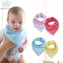 2Pcs Newborn Reversible Muslin & Cotton Baby Bibs Unsiex Accessories Bandana Soft Toddler Triangle Scarf