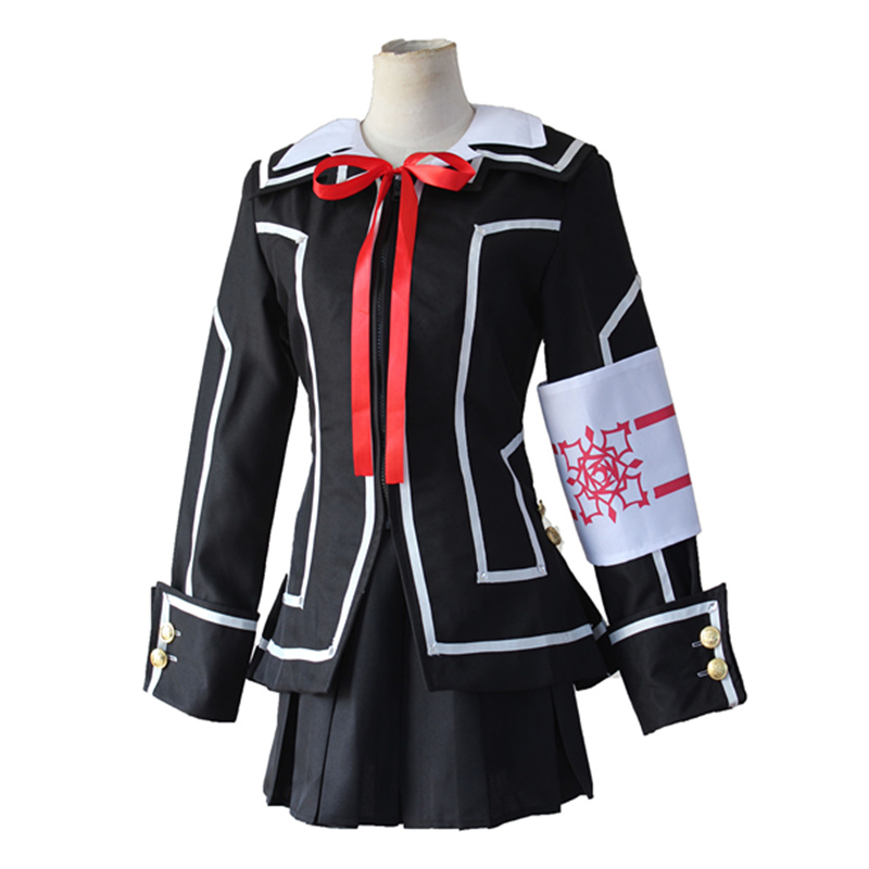 Vampire Knight Kurosu Kuran Yuki Cosplay Costumes Coat Dress Blouse Tie Armband 5Pcs Set Anime Halloween Carnival Cosplay Set