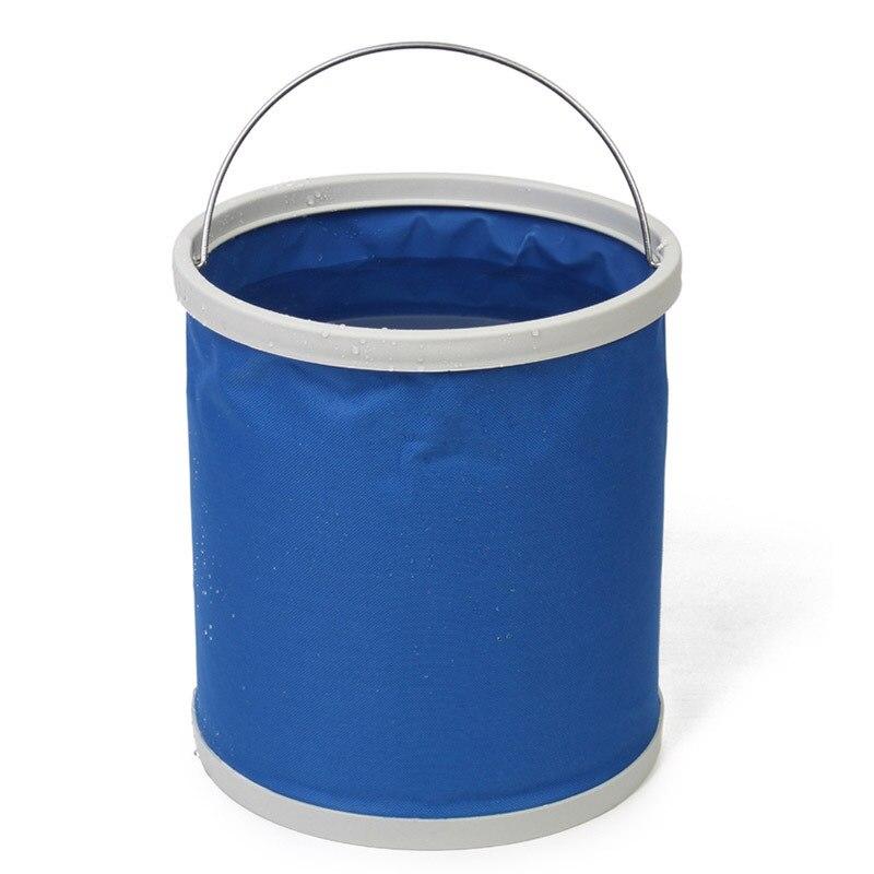 Extérieur De Pêche essentiel portable pliage seau de lavage de voiture seau (9L) E7721