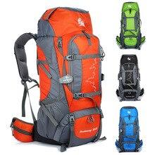 Купить с кэшбэком 2018 Hotsale Men Sport Bag 85L Large Outdoor Backpack Waterproof Travel Bags Camping Hiking Women Climbing Backpacks Rucksack