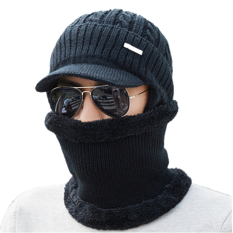 Winter Hats   Skullies     Beanies   Hat Winter   Beanies   For Men Women Wool Scarf Caps Balaclava Mask Gorras Bonnet Knitted Hat 2018