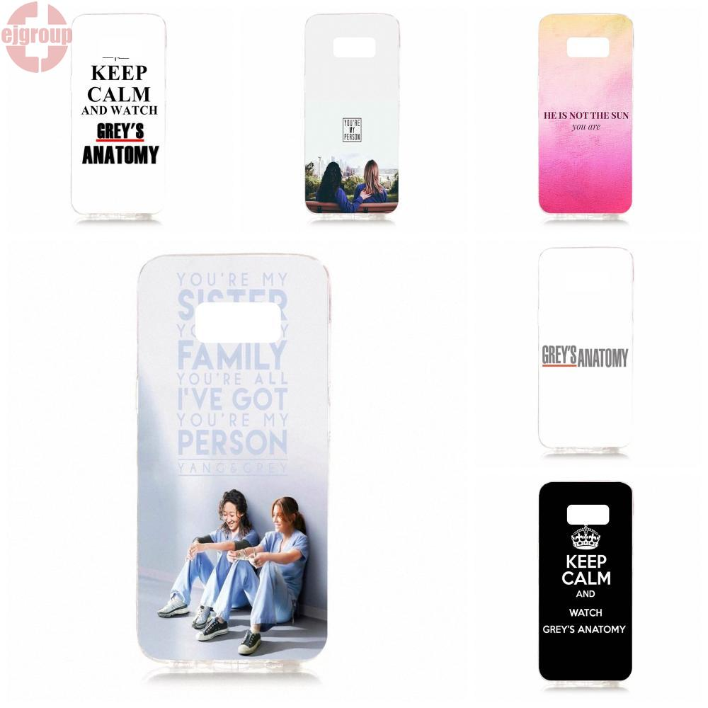 EJGROUP For Samsung Galaxy S8 5.8 inch G950 G950F SM-G9500 Soft TPU Silicon Cover Cell <font><b>Phone</b></font> <font><b>Cases</b></font> Black <font><b>Greys</b></font> <font><b>Anatomy</b></font>