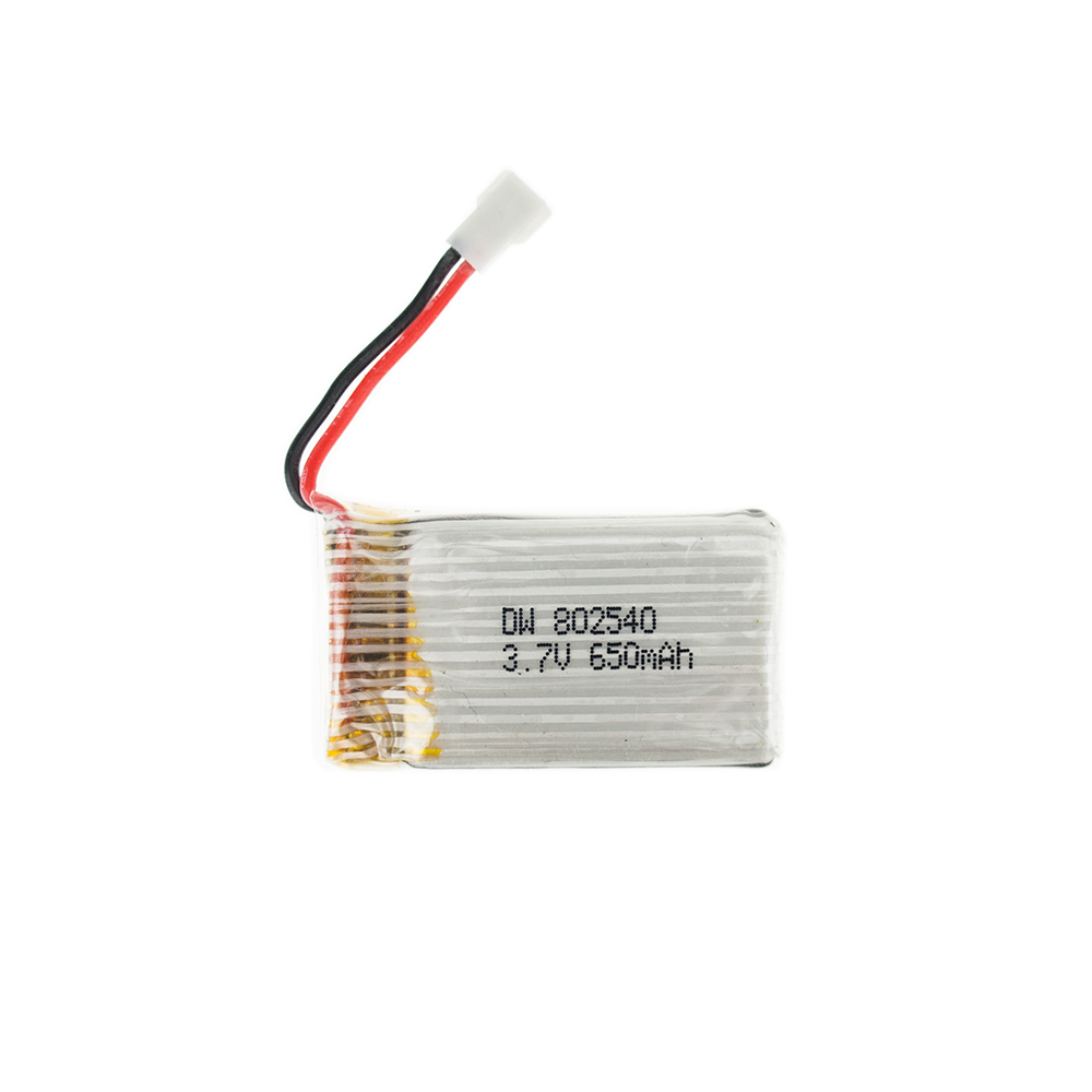 50pcs 3.7V 650mAh li po battery 802540 Syma X5C 1 X5C X5 X5SC X5SW X6SW RC H9D H5C RC Drone parts-in Rechargeable Batteries from Consumer Electronics    1