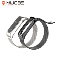 Mijbos Original Magnet Attraction Stainless Steel Wrist Band Strap Replacement For Xiaomi Mi Band 2 Belt