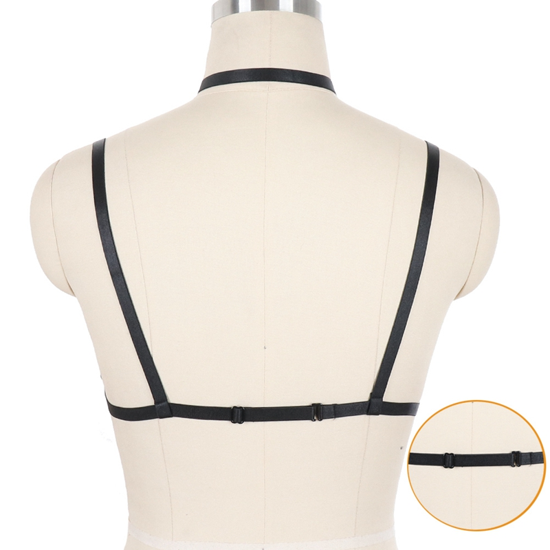Underwear Women 39 s Harness Bra Gothic Body Harness Bondage Sword Belt Garter Belt Goth Elastic Sexy Black Push Up Lingerie in Garters from Underwear amp Sleepwears